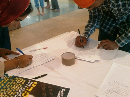 Signature Campaign for Prof. Bullar: about 1000 signed at Melbourne in one Day.
