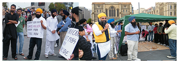Candle Light Vigil by Sikh Federation Australia